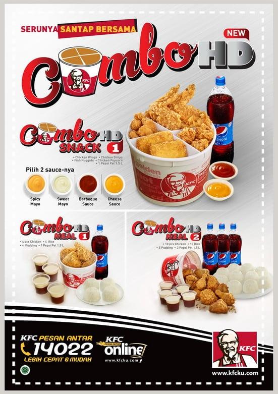 Harga dan Menu Combo HD KFC 2016 - Harga Menu