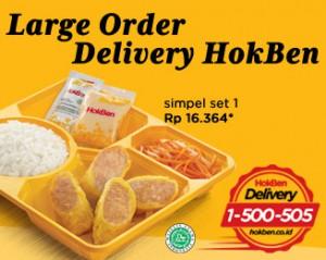 harga menu large delivery hokben
