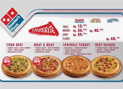 Daftar Harga Menu Domino Pizza Delivery
