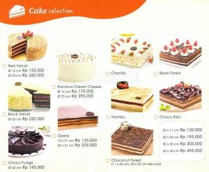 Daftar Harga Cake BreadTalk Delivery