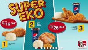 Harga dan Menu Paket Super Eko KFC Indonesia