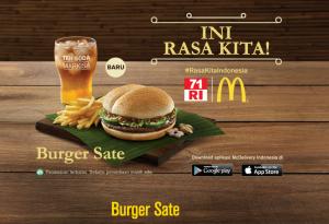 Harga Burger Sate McDonalds Indonesia
