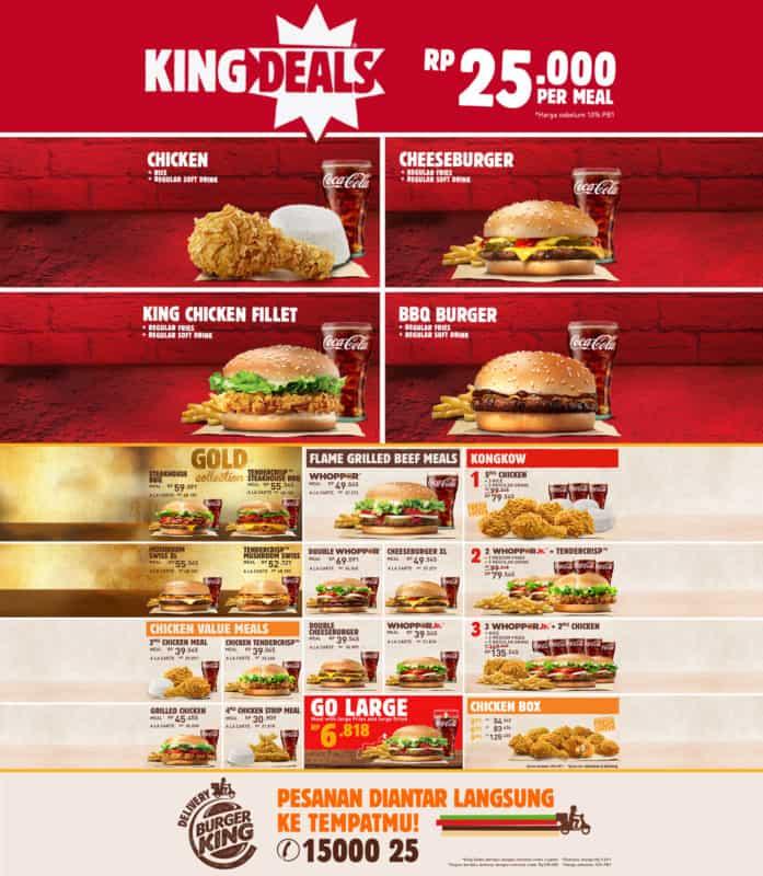 menu burger king indonesia