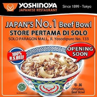 Yoshinoya Solo Paragon Mall Grand Opening Seru Promonya