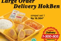 harga menu large delivery hokben