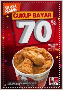 Promo Terbaru KFC Selasa Rame Khusus Whole Chicken Bucket