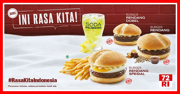 menu mcd 2020 burger rendang