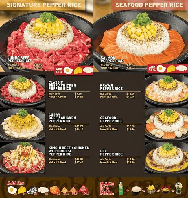 Daftar Harga Menu Pepper Lunch Desember 2018