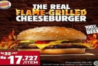Menu Burger King Terbaru The Real Flame-Grilled Cheeseburger