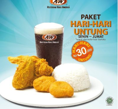 A&W Promo Paket Hemat Hari-Hari Untung Free 2 Chicken Chunks
