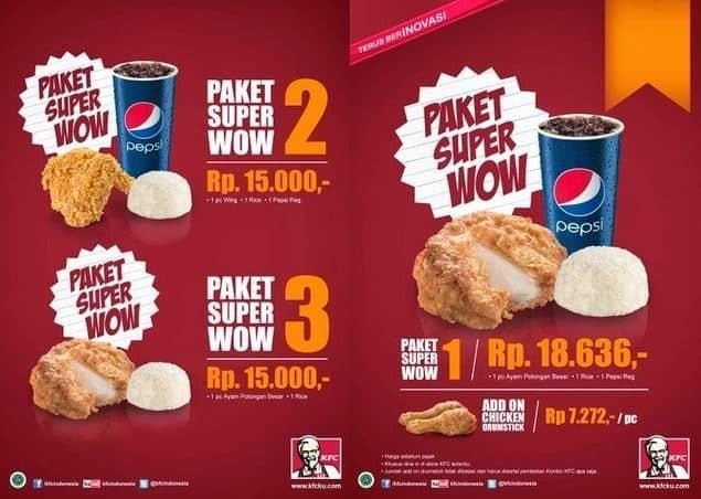 Harga Paket Hemat KFC Terbaru
