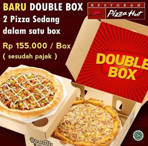 Harga Double Box Pizza Hut