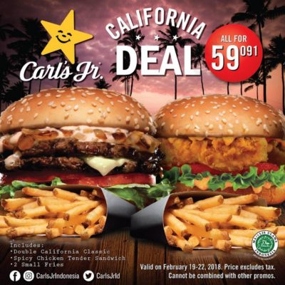 Paket Double Carls JR California Deals Hanya Rp. 59,091
