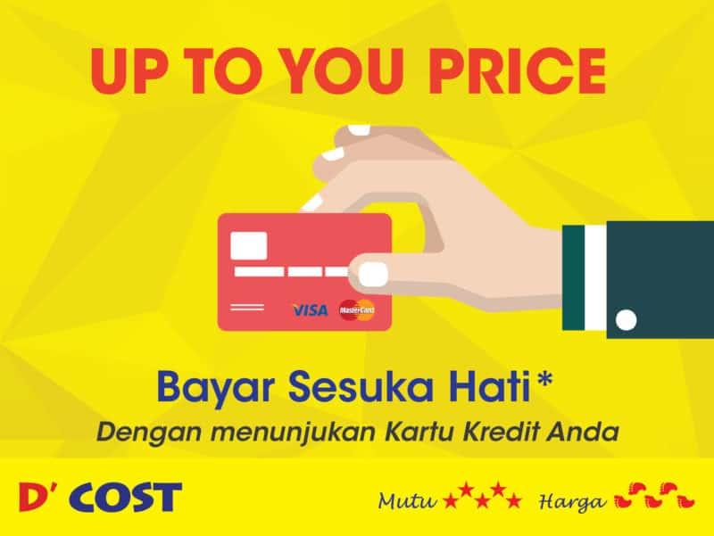 Promo Dcost Harga Sesuka Anda dengan Kartu Kredit untuk Pembukaan Outlet baru