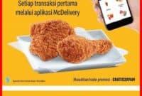 Promo Mcdonald terbaru gratis ayam mcd