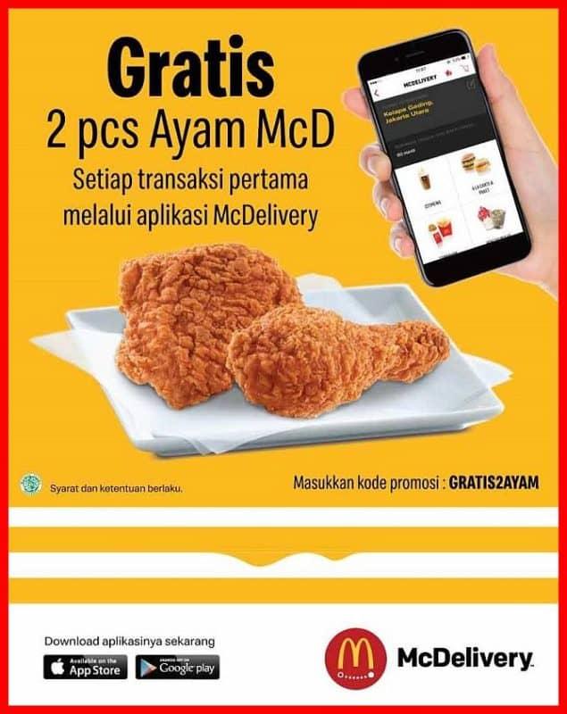 Promo Mcd terbaru gratis ayam mcd