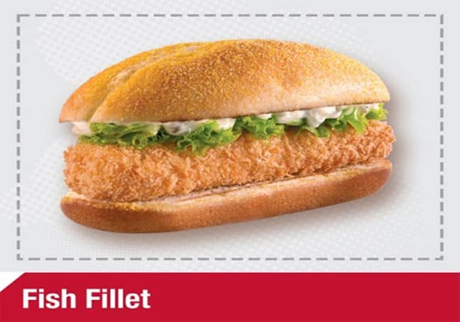 Menu Harga Fish Fillet KFC