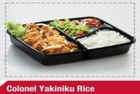 Paket Menu Harga Yakiniku Rice KFC