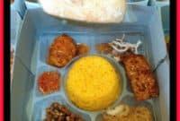 daftar menu nasi kotak